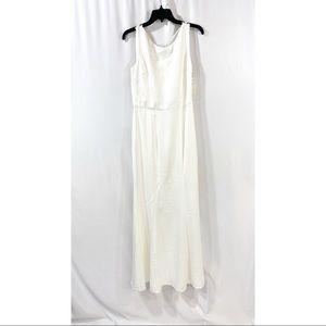 Chi Chi London white maxi dress lace drape back